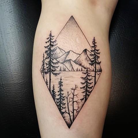 Mountain Tattoo by Sandra Burbul