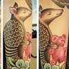 Armadillo tattoo by Sandra Burbul