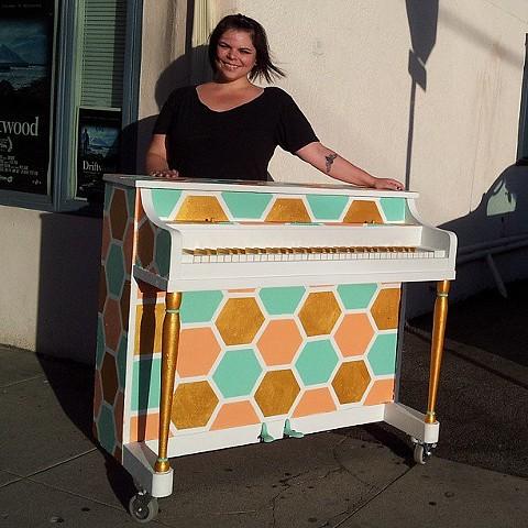 State Street Honeycomb Piano