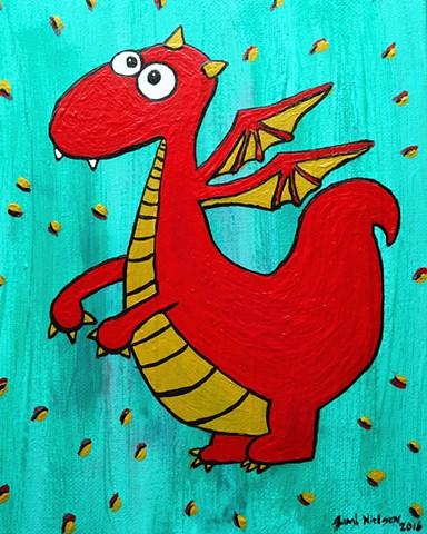 Acrylic Dragon on Canvas