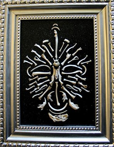 bone mandala skull noches de los muertos found object art