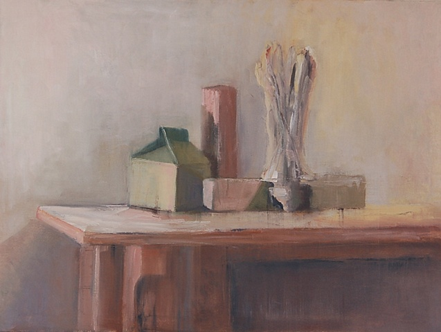still life with milk carton