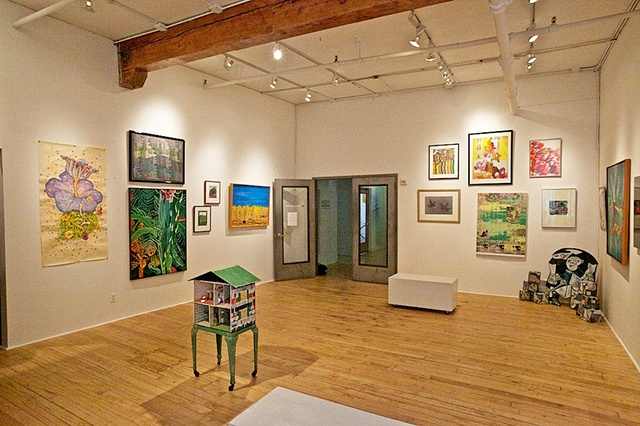An interior view of the new Viridian Artists,INC. gallery space.