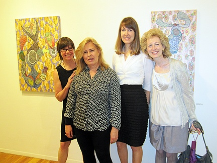 Kathleen King with friends from The School of the Art Institute of Chicago.