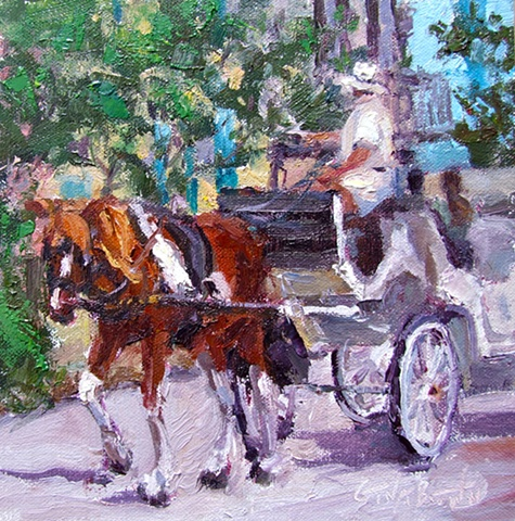 Carriage Ride in Charleston, Rainbow Row