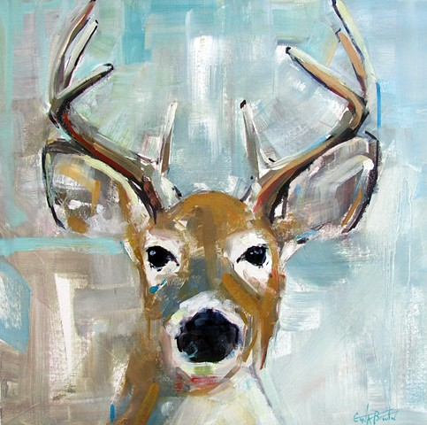 Deer on Light Blue