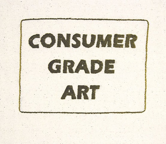oh lord, not another piece of word art (consumer grade art)