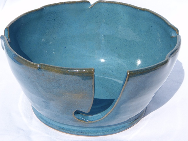 Blue Yarn Bowl