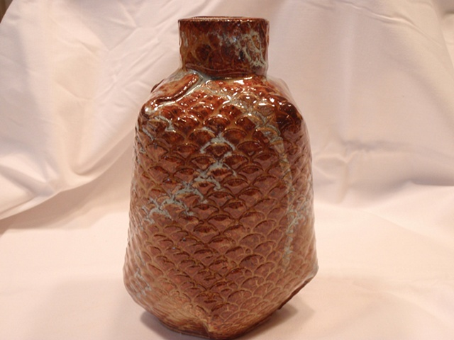 Textured Brown Bottle