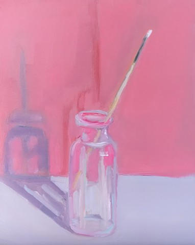 Glass Bottle with Brush