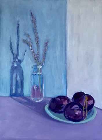 Russian Sage & Plums
