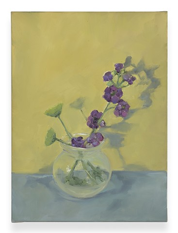 Flowers (purple on yellow)