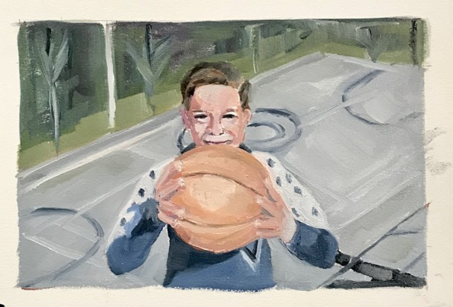 Little Steve with BBall