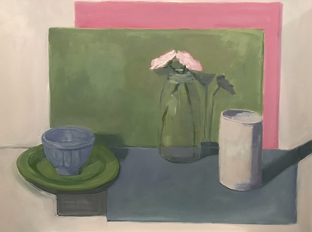 Still Life with Pink and Green