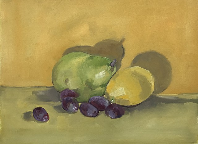 Pear, Lemon and Grapes