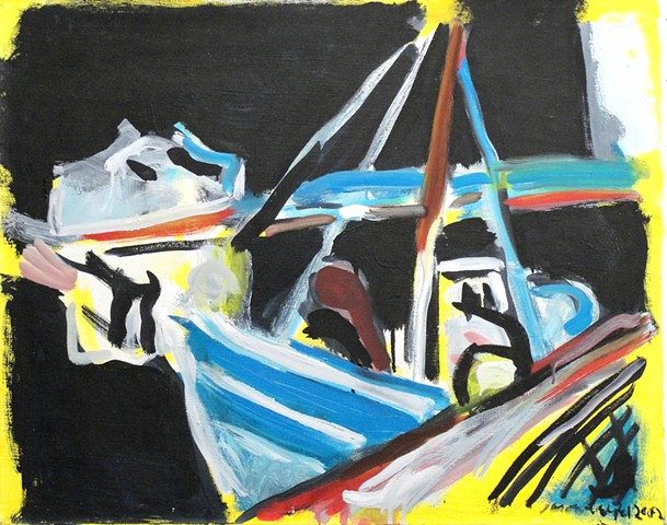 Night Boat with Yellow, Tavira, 2007