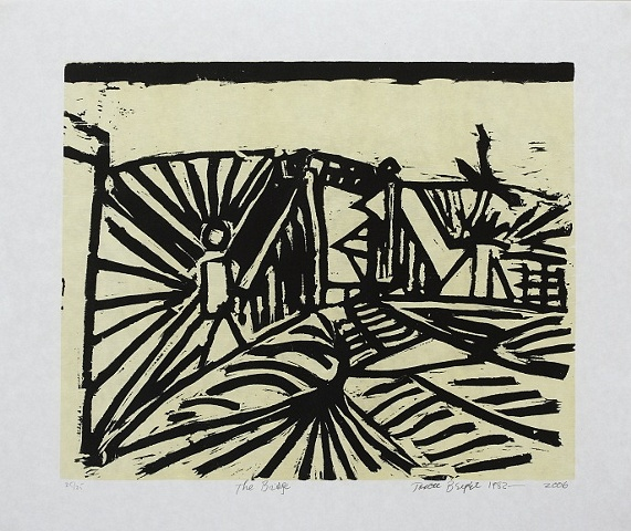 The Bridge,  Woodcut, 1982 - 2006
