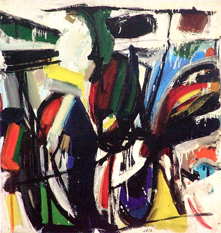 Abstract Landscape,1956. Berger would always use nature as his inspiration. As there is nothing real about realism, his exploration of the language of painting which is abstract color, form and composition would be his lifelong passion.