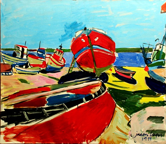 Red Boats on the Beach, 1999