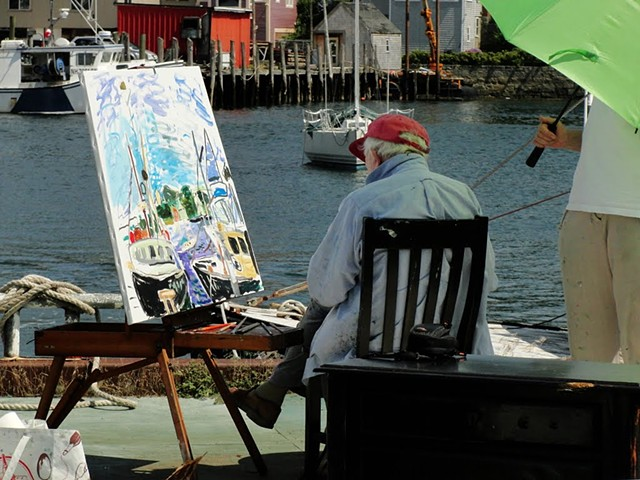 "Jason Berger painting. ""Gloucester Boats"" 2010"