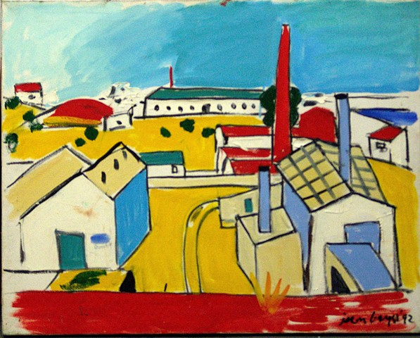 Portugal Factory, Red Stack, Yellow Earth, 1992