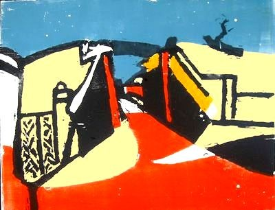 The Bridge, Woodcut, 1982-2006