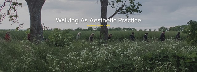 WALKING AS AESTHETIC PRACTICE