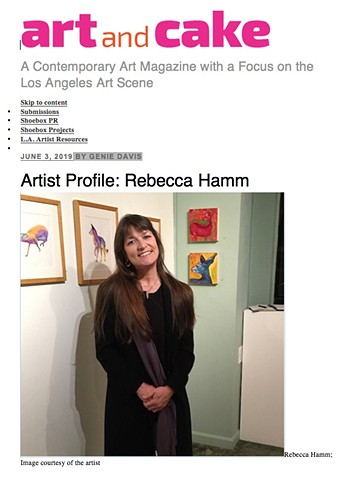 Rebecca Hamm, Art and Cake Artist Profile June, 2019