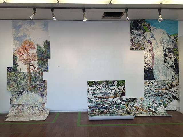 Installation view at Los Angeles City College November 2015