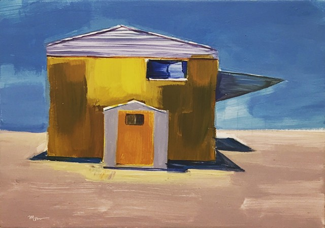 mobile home, beach painting, beach houses, Americana, americanwest, tinyhouse, landscape painting, tiny house, coastal living, palm tree painting, trailer park, Tahitian Terrace, Pacific Palisades, California, PCH, modern art, landscape painting, american