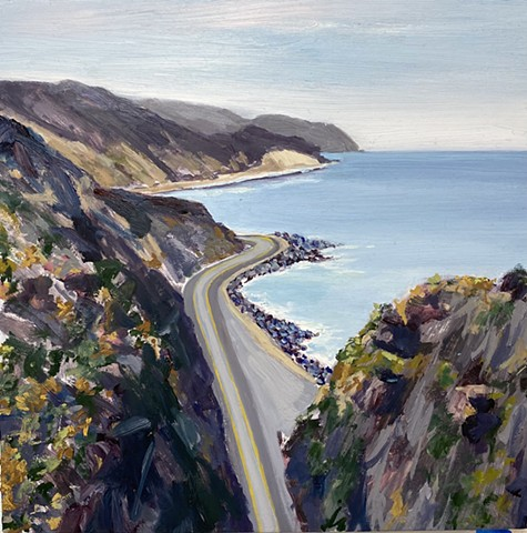 PCH, road trip, Malibu, California coast, plein air painting