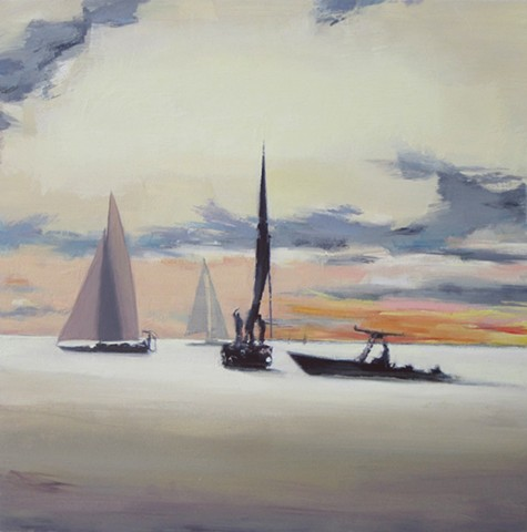 #marine painting, beach painting, #newport BEach, boat painting, sail boat, ocean, speed boat, harbor, California, California Coast, Newport Beach, Art of Newport Beach,#mobile home, #90272, Los Angeles, #famous beach, #California painting,  #trailer park