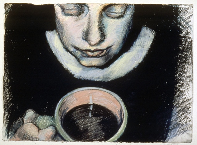 SELF PORTRAIT WITH CUP