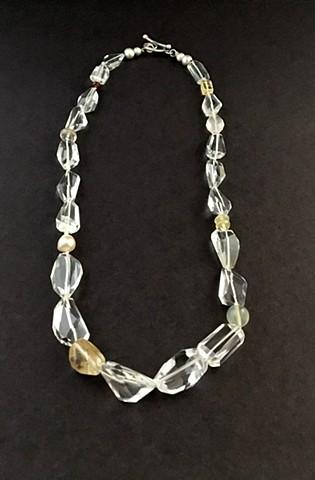White Topaz Rutilated Quartz Freshwater Pearl Moonstone Australian Opal Sunstone Red Spinel Rose Quartz Golden Topaz Sterling Silver
