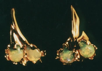 Australian Opal  18kt. Gold