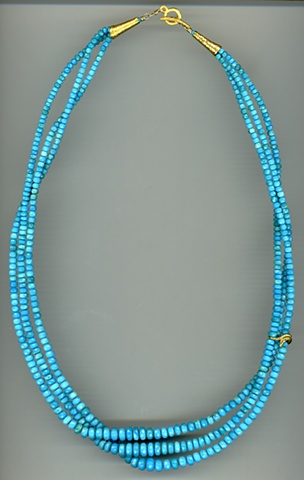 Sleeping Beauty Turquoise 24kt. Gold