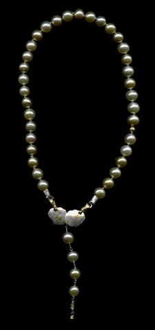 Golden Pearls 24kt. Gold Fine Silver  Golden Sapphire