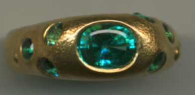 Paraiba Tourmaline with 24kt Gold