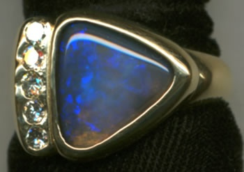 Australian Opal and Diamonds with 18kt. Gold