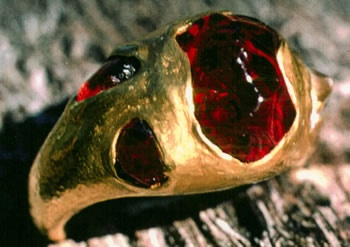 Baroque Navaho Garnets with 24kt. Gold