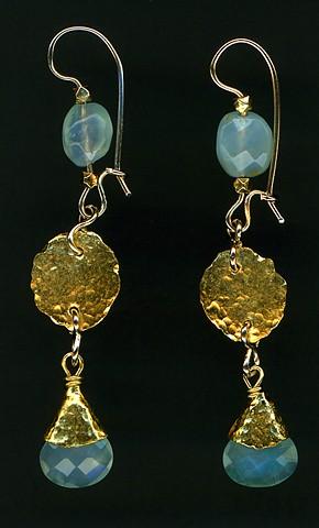 Peruvian Opal 24kt. Gold