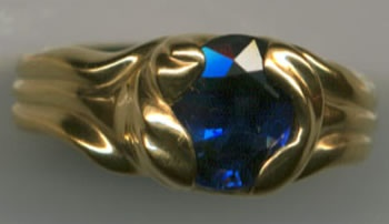 Sapphire with 24kt. Gold