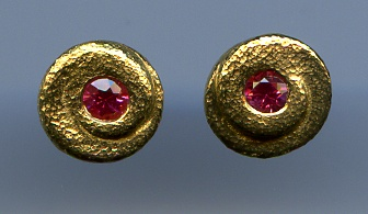 Spinel and 24kt. Gold