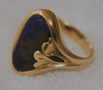 Australian Matrix Opal and Sapphire with 18kt. Gold