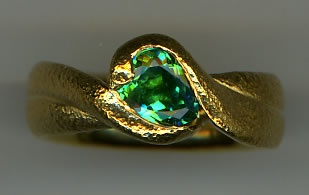 Paraiba Tourmaline with 24kt. Gold