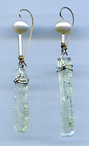 Heliodor Crystal Pearl Sterling Silver