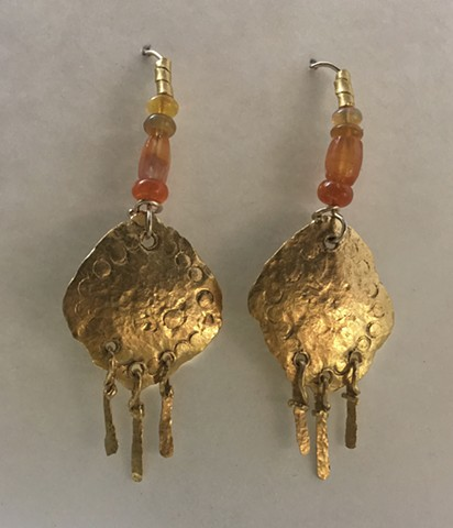 24kt. Gold Ethiopian Opal Carnelian ~ Indus Valley 1200 B.C. 14kt. Gold