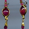 Rhodonite Ruby Spinel Sapphire 24kt. Gold