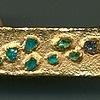 Natural Paraiba Crystals  24kt. Gold