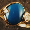 Turquoise  Diamond  18kt. Gold